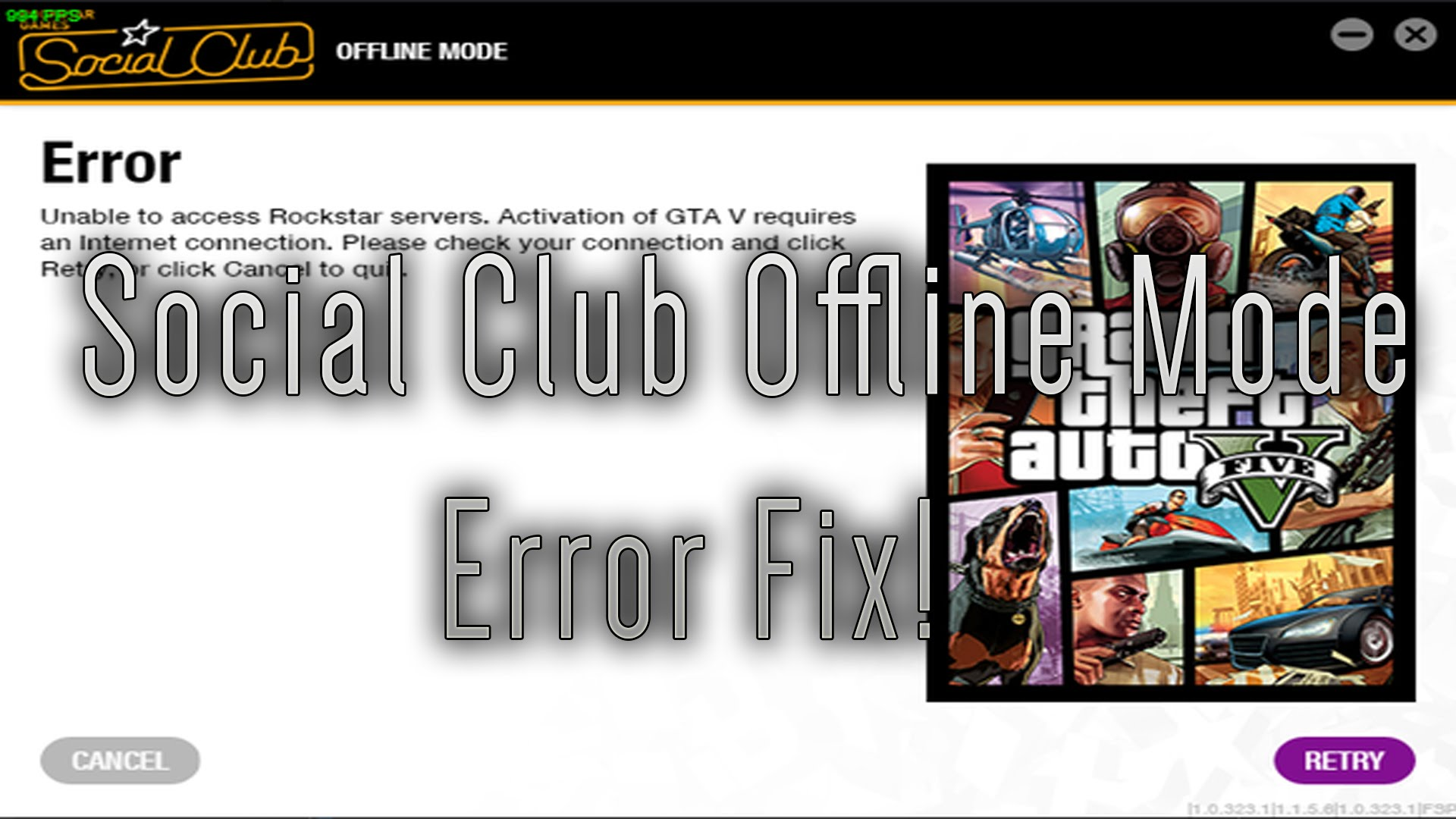 GTA 5 Social Club Offline Mode Fix | GTA V